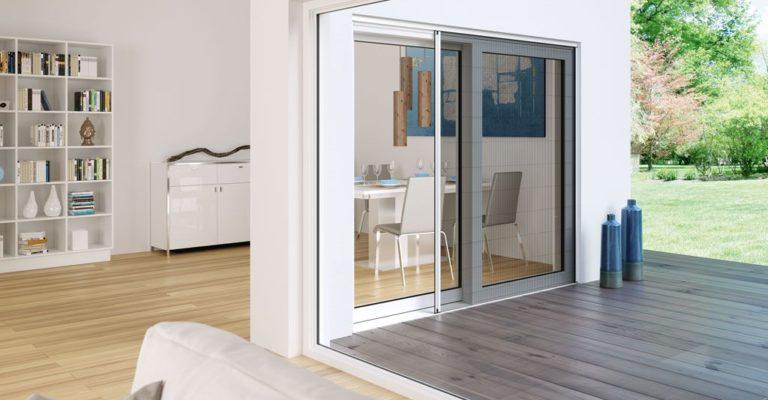 Insektenschutz-Schieberahmen für ein großflächiges Fenster